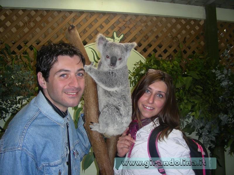 Alessio e Elisa con il Koala