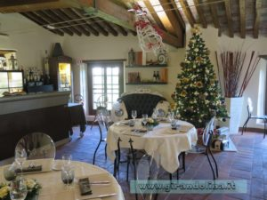 La sala del ristorante di Villa Garzoni