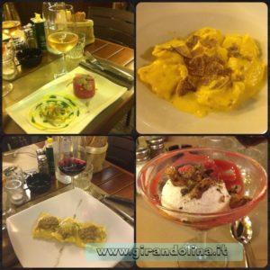 I piatti a noi proposti dal ristorante il Voronoi