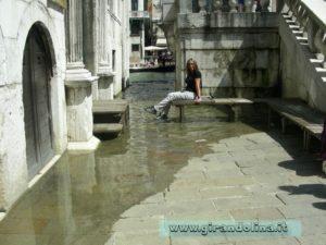 Fenomeno acqua alta a Venezia