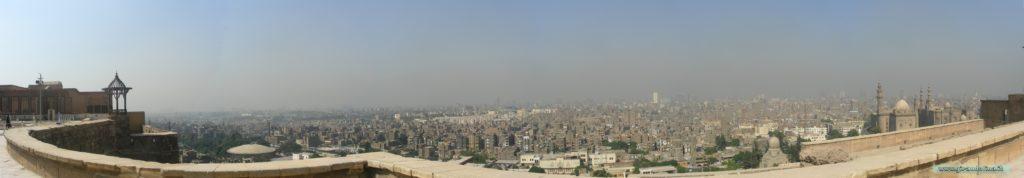 Panorama della città del Cairo, dalla Cittadella