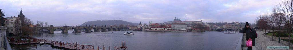 Praga e il Ponte Carlo con Girandolina