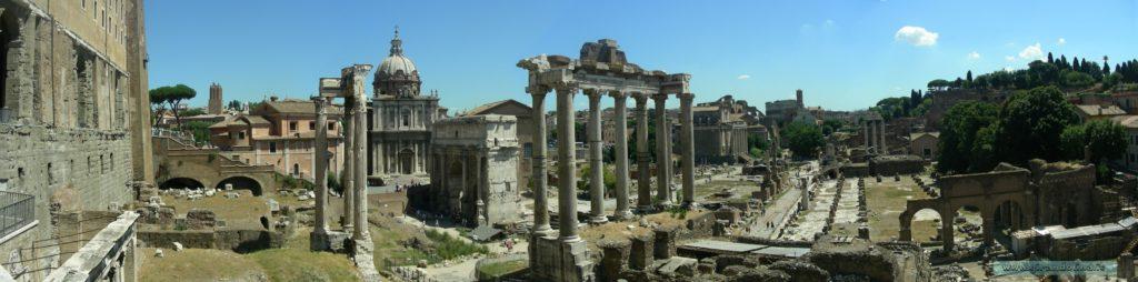 Il Foro Romano , veduta dal Palatino