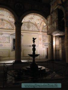 Il cortile interno di Palazzo Vecchio