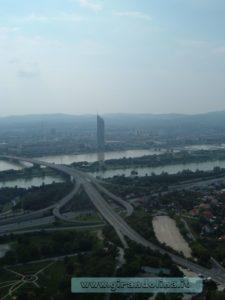 La Donauturm il panorama