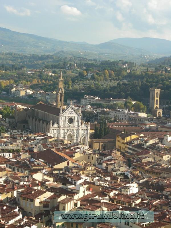 La Chiesa di Santa Croce, vista dalla cima del Duomo di Firenze