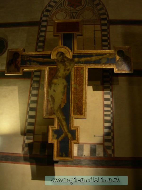 Il Crocifisso di Cimabue, danneggiato dall' alluvione del 1966