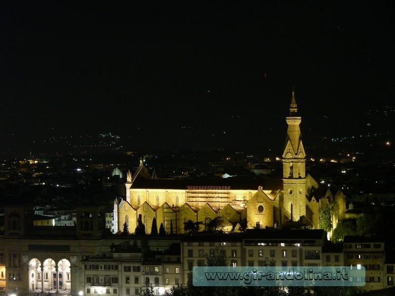 La Chiesa di Santa Croce, vista dal Piazzale Michelangelo