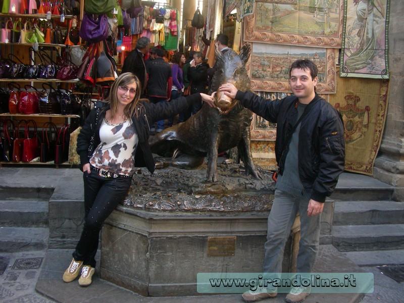 La statua del Porcellino di Firenze