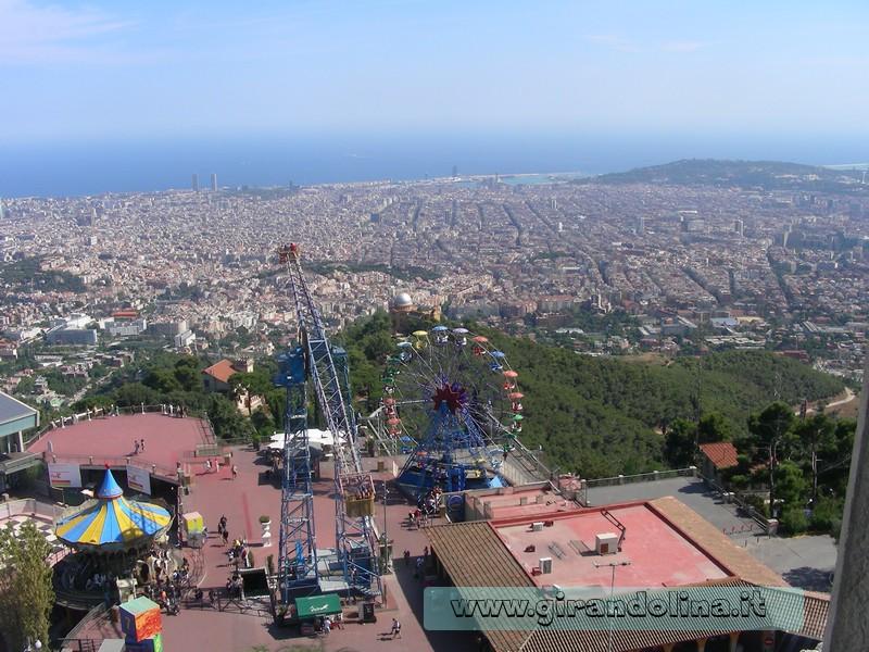 Il panorama di Barcellona, vista dal Tibidabo