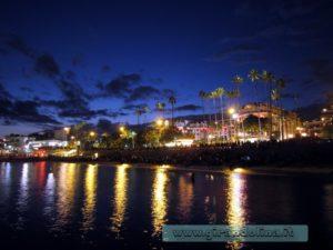 Molo di Cannes al tramonto