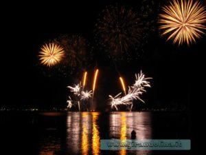 Festival mondiale dei fuochi pirotecnici, baia di Cannes