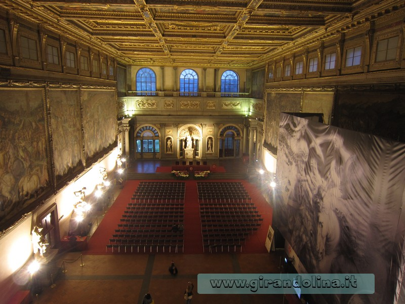 Il Salone dei Cinquecento, Palazzo Vecchio di Firenze