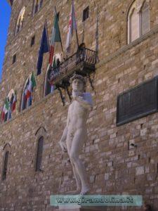 Il David in Piazza della Signoria