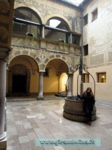 Il Municipio di Lubiana, il cortile interno
