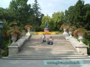 All' interno del parco di Baden