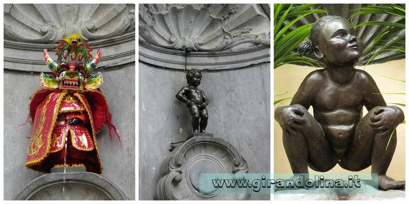 Il Manneken-Pis, la Jaenneke Pis - Bruxelles e Bruges