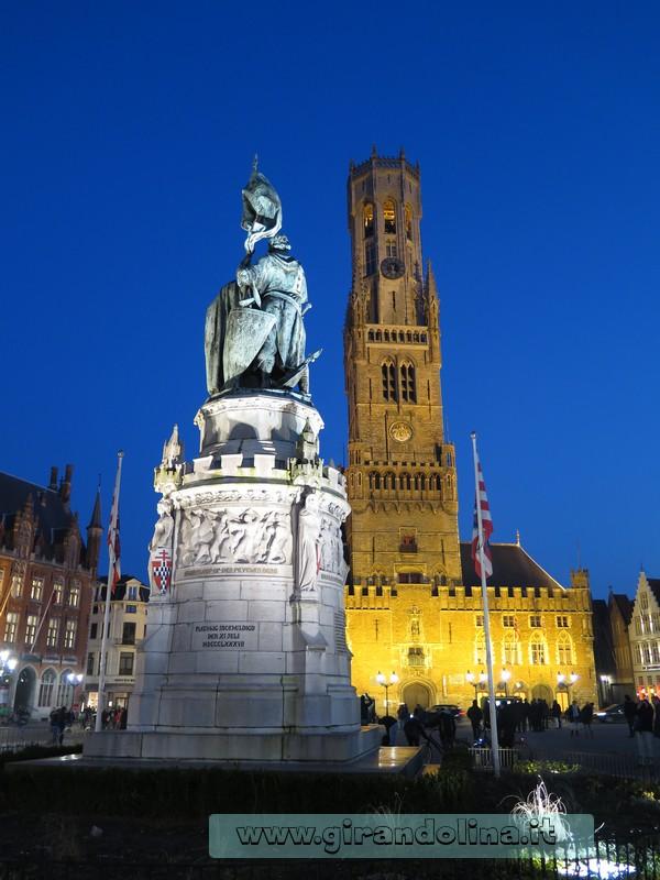 Bruges - Il Belfort al tramonto