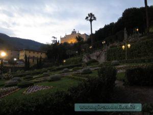 Lo Storico Giardino Garzoni al tramonto