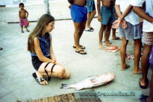 Il mercato del pesce sulla spiaggia