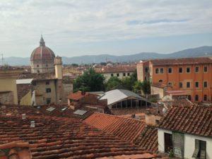 Panorama di Pistoia, visto dalla Suite