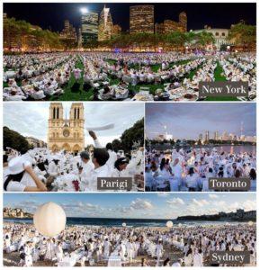 Total White Dinner nel mondo