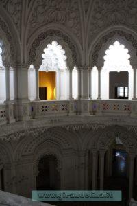 Castello Sammezzano Sala Bianca,dall alto