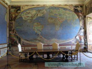 Palazzo Farnese Caprarola, la Sala dei Mappamondi