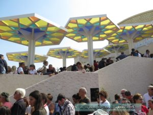 La fila al padiglione del Qatar