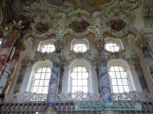 Le finestre all' interno della Wieskirche
