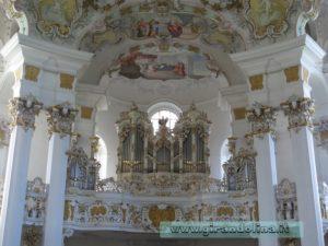 L'organo interno della Wieskirche