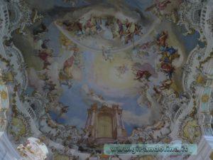 Particolare del soffitto della Wieskirche