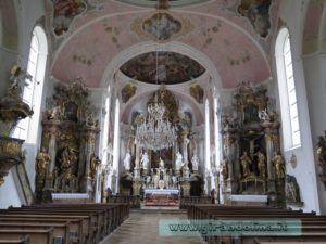 Oberammergau la Chiesa di St Peter e St Paul
