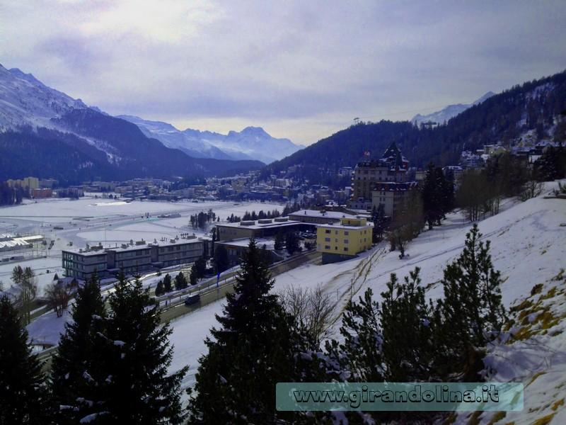 St.Moritz, il panorama e il Lago ghiacciato