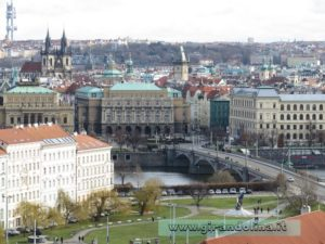 La città di Praga, veduta dal Castello