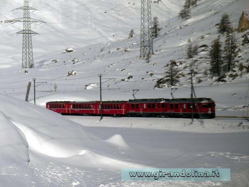 Il Trenino Rosso del Bernina, la stazione di Pontresina