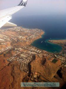 Sharm El Sheikh vista dall'aereo