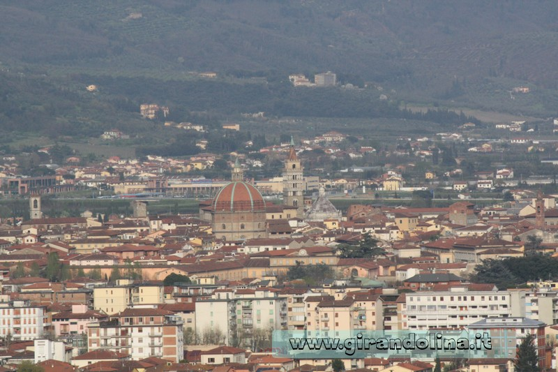 Convento di Giaccherino il panorama