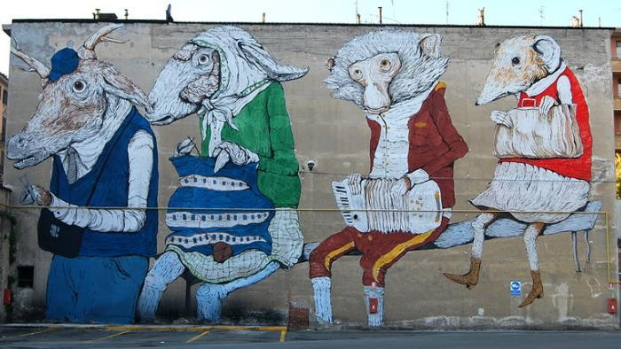 murales torino foto presa da la stampa