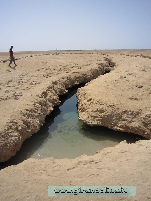 La depressione naturale del Parco Naturale Marino di Ras Mohammed