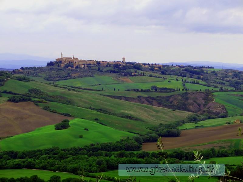 Pienza veduta, nella Toscana Centrale