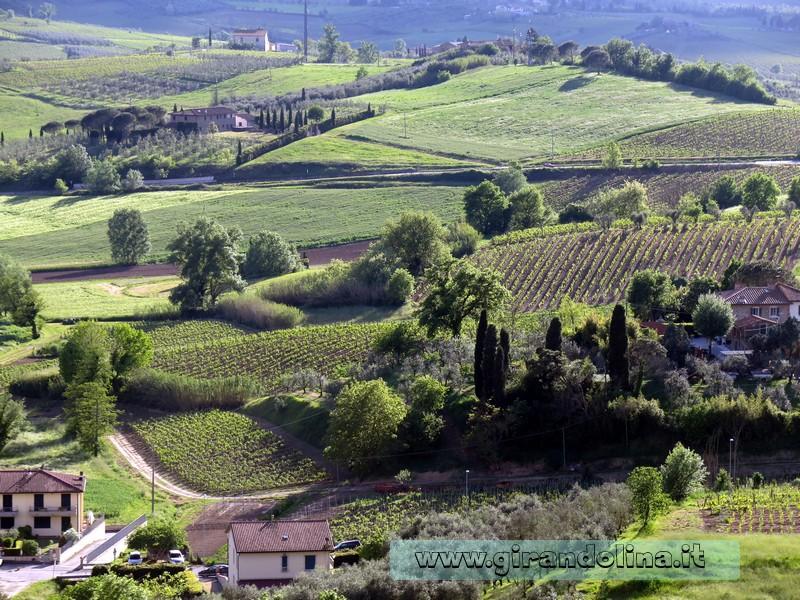Vinci e il panorama toscano