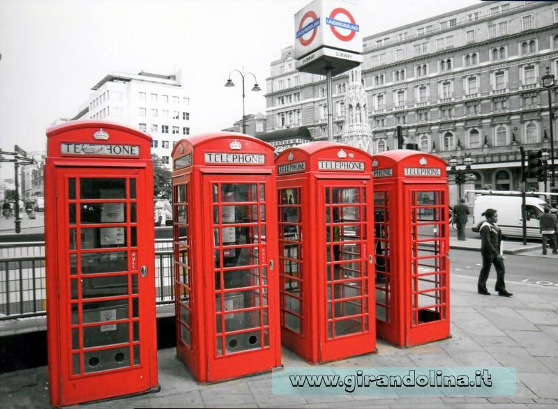 Le famose Cabine telefoniche di Londra