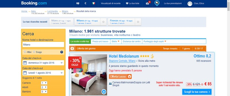 Booking Hotel Mediolanum
