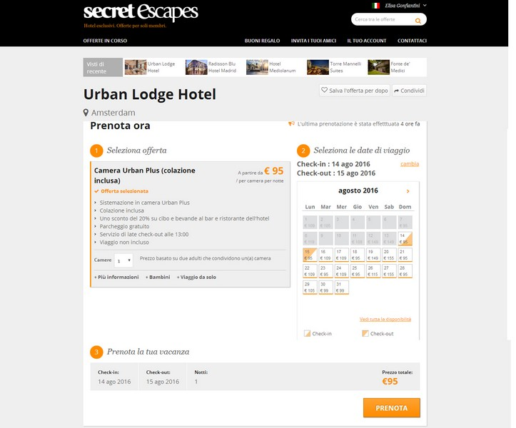 Secret Escapes Urban Lodge Hotel
