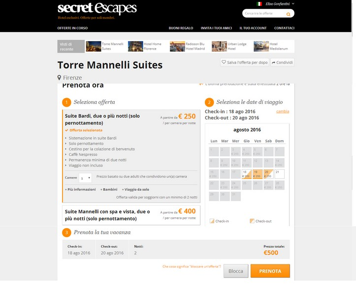 Secret Escapes Torre Mannelli Suites