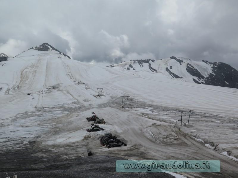 Il ghiacciaio del Passo dello Stelvio