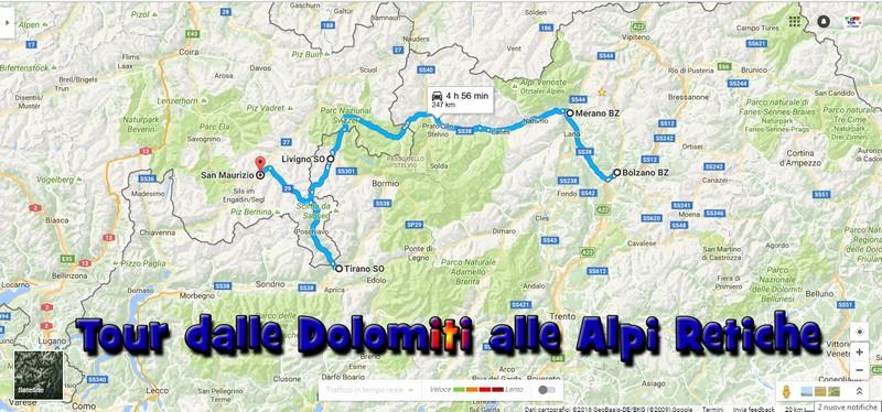 Cartina Dolomiti Italia.Dalle Dolomiti Alle Alpi Retiche Un Pratico Itinerario