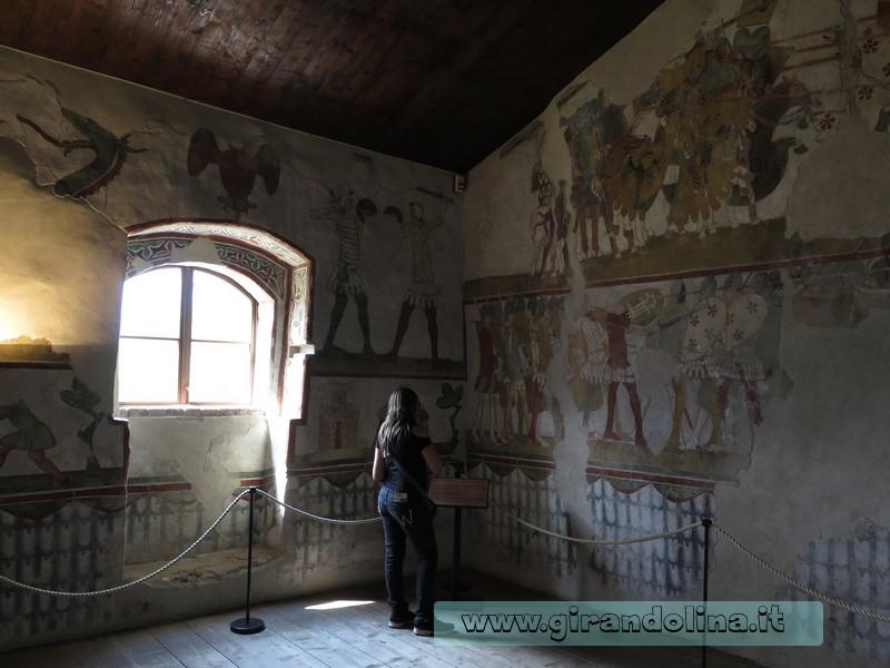 Castello di Avio, gli affreschi della Casa delle Guardie