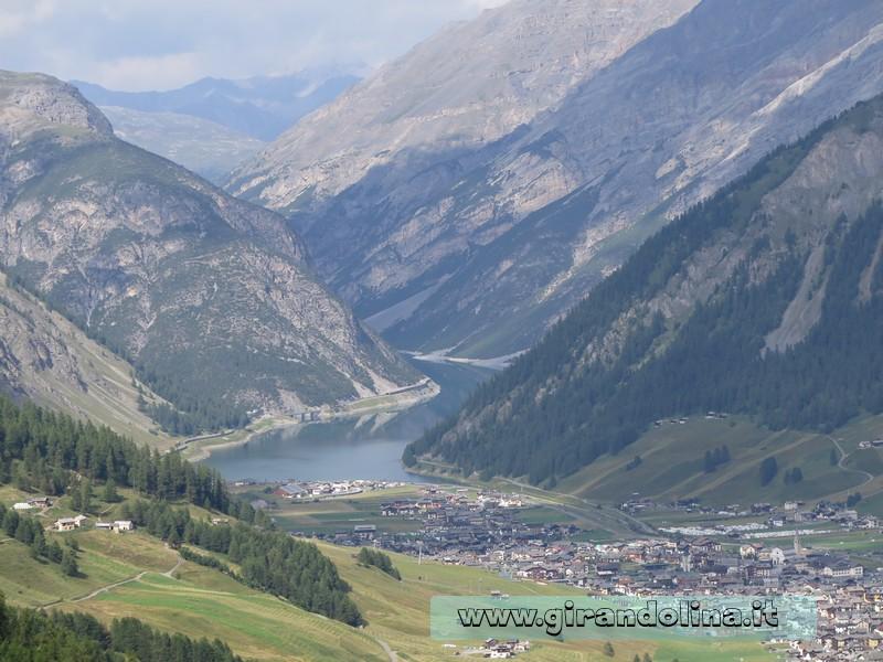 La città di Livigno vista dall' alto